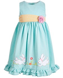 Toddler Girls Bunny Seersucker Dress