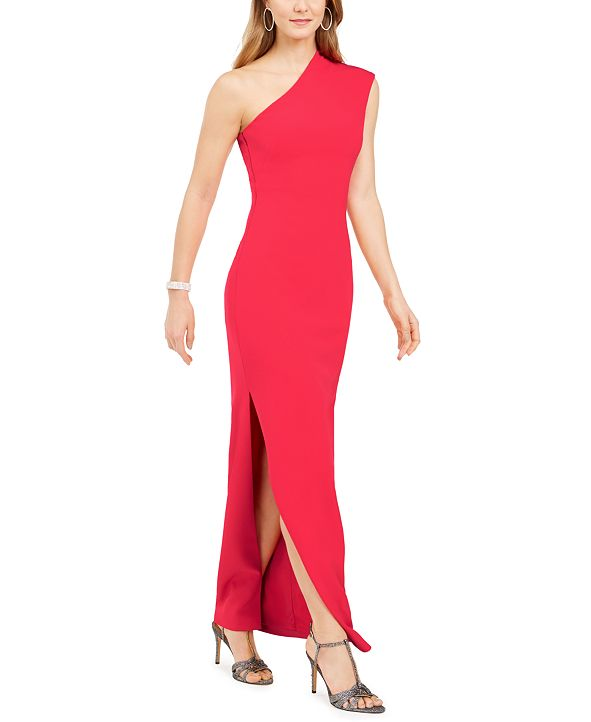 Vince Camuto One-Shoulder Fitted Gown