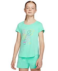 Big Girls Cotton Just Do It T-Shirt