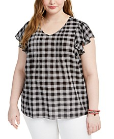 Plus Size Plaid Top, Created for Macy's