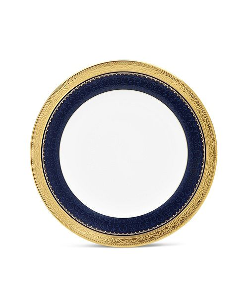 """Noritake Odessa Cobalt Gold Bread & Butter/Appetizer Plate, 6.5"""""""