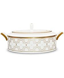 Trefolio Gold Covered Vegetable Bowl, 67 Oz.