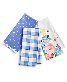 Garden Party Kitchen Towels, Set of 3, Created for Macy's