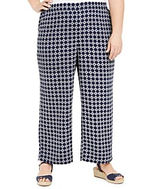 Plus Size Tyler Tile-Print Pants, Created for Macy's