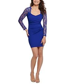 Lace-Sleeve Bodycon Dress