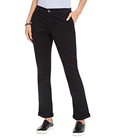 Cotton Bootcut Chino Pants, Created For Macy's