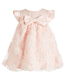 Baby Girls Satin Bonaz Bow Dress