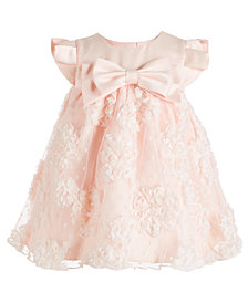 Bonnie Baby Baby Girls Satin Bonaz Bow Dress