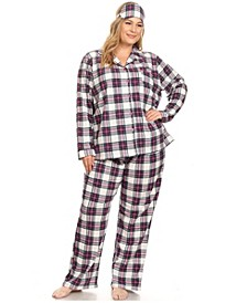 Plus Size 3-Piece Pajama Set