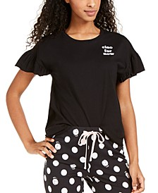 Ruffle-Sleeve Pajama T-Shirt, Created for Macy's