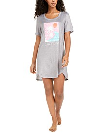 Printed Knit Sleep Shirt Nightgown, Created for Macy's