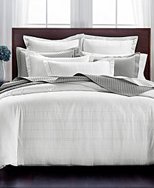 Charter Club Damask Windowpane Duvet Sets, 550-Thread Count Supima Cotton Created for Macy's