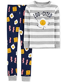 Little & Big Boys 2-Pc. Cotton Breakfast Pajamas Set