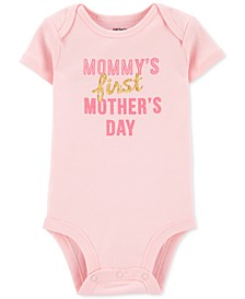 Baby Girls Mother's Day Cotton Bodysuit