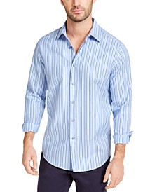 Men's Stretch Geo-Stripe Dobby Shirt, Created for Macy's