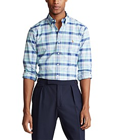 Men's Big & Tall Plaid Oxford Shirt