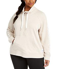 Calvin Klein Performance Plus Size Mock-Neck Sweatshirt