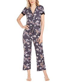 Floral-Print Jersey Knit Pajama Set