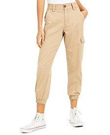 Juniors' Cotton Cargo Jogger Pants