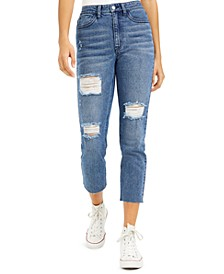 Juniors' Cropped Slim Straight-Leg Jeans