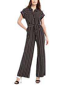 Petite Striped Jumpsuit