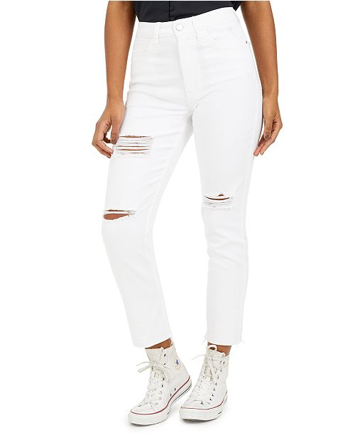 Tinseltown Juniors' Ripped Ankle Slim-Leg Jeans