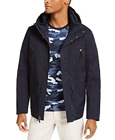 Men's Kors X Tech Water-Repellent Hooded Hybrid Parka