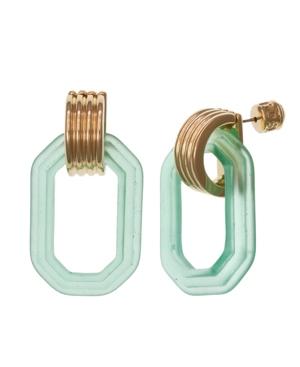 Gold Tone Doorknocker Earrings