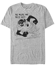Looney Tunes Men's Tasmanian Devil Taz No More Mr. Nice Guy Short Sleeve T-Shirt