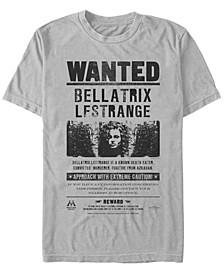 Harry Potter Men's Bellatrix Lestrange Wanted Poster Short Sleeve T-Shirt