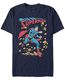 DC Men's Superman Rock Punch Short Sleeve T-Shirt