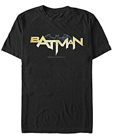 DC Men's Batman Text Logo Short Sleeve T-Shirt