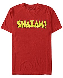 DC Men's Shazam Text Logo Short Sleeve T-Shirt