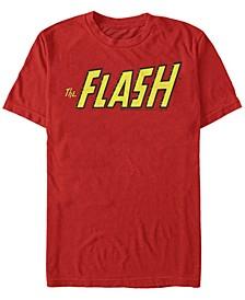 DC Men's The Flash Text Logo Short Sleeve T-Shirt