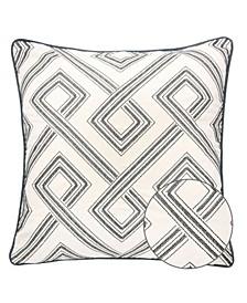 Camila Embroidery Square Decorative Throw Pillow