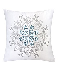 Norah Embroidery Square Decorative Throw Pillow