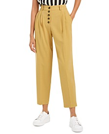 Button-Front Pleated Pants, Created For Macy's