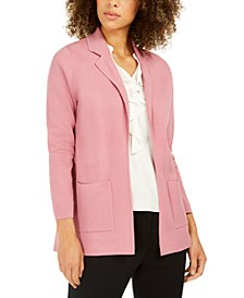 Kiss-Front Cardigan Sweater Blazer