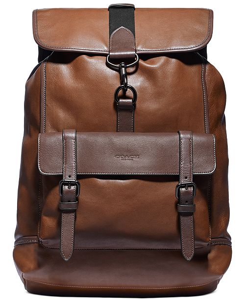 COACH Men's Bleecker Leather Backpack