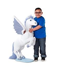 Melissa Doug Lifelike Plush Giant Winged Pegasus Stuffed Animal
