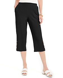 Crinkle Capri Pants, Created For Macy's