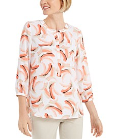 Printed Pleat-Back Top, Created for Macy's