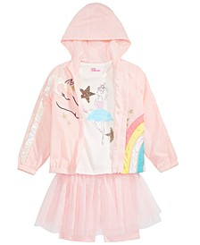 Little Girls Ballerina T-Shirt, Tutu Bike Shorts & Unicorn Jacket, Created For Macy's