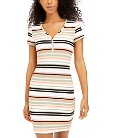 Juniors' Striped Bodycon Dress