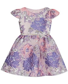 Toddler Girls Floral Burnout Dress