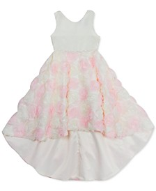 Little Girls Soutache High-Low Dress