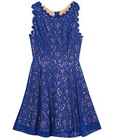 Big Girls Floral Lace Dress