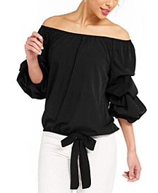 Off-The-Shoulder Puff Sleeve Top