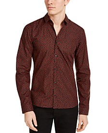 Men's Woven Dot-Print Shirt