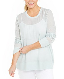 Plus Size Mesh Top, Created for Macy's
